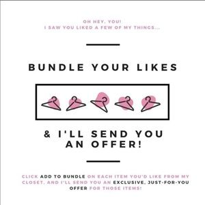 Bundle and save!! Make me any offer!